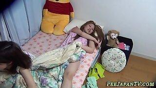Watched japanese teen pee