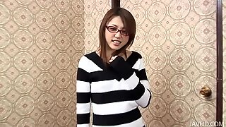Japanese chick Rino Mizusawa gets caught in her room by a horny guy