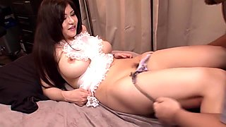 Horny Japanese whore Anri Okita in Incredible big tits, lingerie JAV video