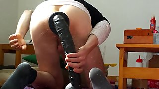 Pig Hole and big dildo inside