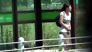 Footage of Japanese amateurs taking a piss in public