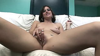 cute girl takes it all off