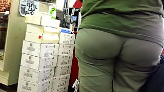 Big Ass Eating Wedgie Vpl at Ollies!