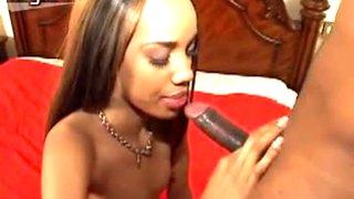 Svelte ebony prostitute Kapri Styles sucks and rides huge BBC