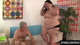 massive stunner sucks on a Big Cock and Gets Drilled