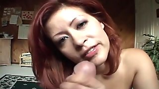 Red haired and busty MILF gets pounded doggy style