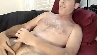 Watch me stroking my big cock