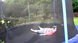 SSBBW ON A TRAMPOLINE