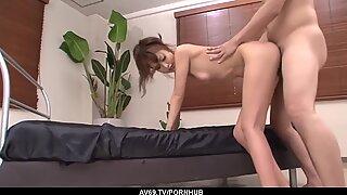 Rika Kurachi amazing hardcore sex and sperm on her big tits