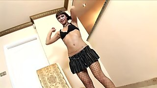 Angelina fucked in stockings and stiletto heels