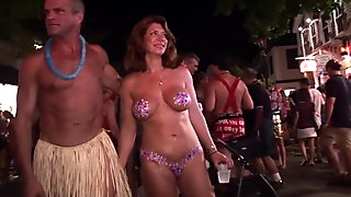 key west fantasy fest swingers naked partying in the streets naked in public
