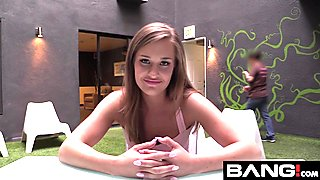 April Brookes Takes A Load On Her Face For an Audition