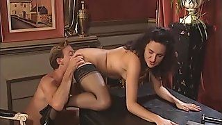 German girl in stockings