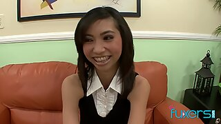 Petite Asian schoolgirl Rosemary Redeva
