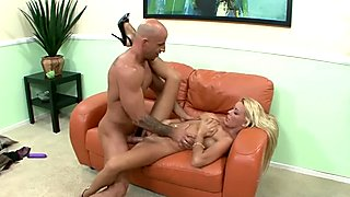 Busty babe Niki Blonde gets pounded with a stiff cock