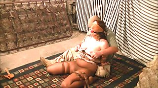 Master takes advantage of his tied up sex object