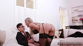 Blonde fat mom masturbation and step over Halloween Special With A Threesome - Brandi Love