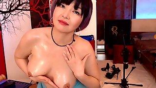 asian mature mom do oil show