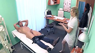 Perverted doctor fucks sexy milf and solved her problem