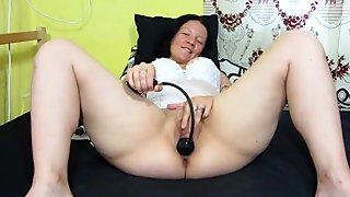 pump dildo in pussy, masturbation