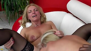 two elder slut mothers fucked by old black meatpipe