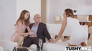 Riley Reid and Adriana Chechik know how to lead the deal in the desired direction