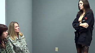 Slutty Soldiers Lesbian Domination
