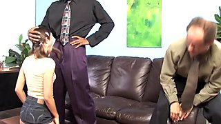 Amber Rayne gets BBC anal in front of her father