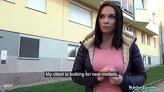 Public Agent Alysa Gaps Russian Pussy Takes a Pounding