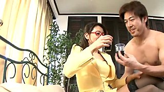 Japanese chick Mizuki Ogawa enjoys deep cock penetration in her twat