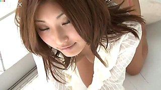 Perfect view of japanese bitch Saeka Tanaka's round ass