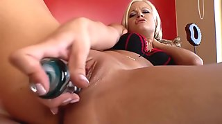 Hot blonde and her dildo