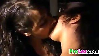Cute Amateur Lesbians Kissing