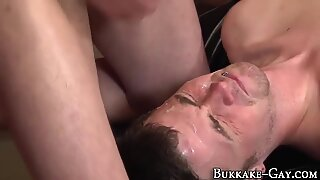 Amateur gets cum bukkaked