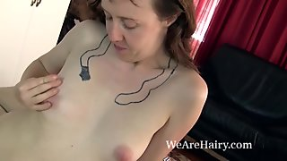 The very hairy Roxanne puts on a hairy striptease
