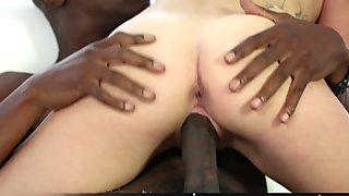 Blondie Teen Hollie Mack Sucking Riding a Big Black Cock