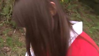 Asian teen blowjob outdoor public sex
