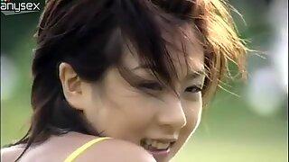 Cute teen Aki Hoshino is not shy to show her petite body